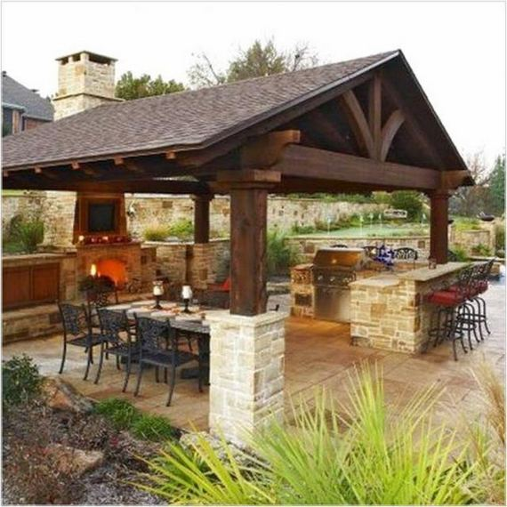 13 Totally Inspiring Outdoor Kitchens Design Ideas 24