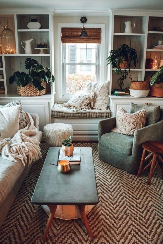 14 Cozy Bohemian Living Room Decoration Ideas 25