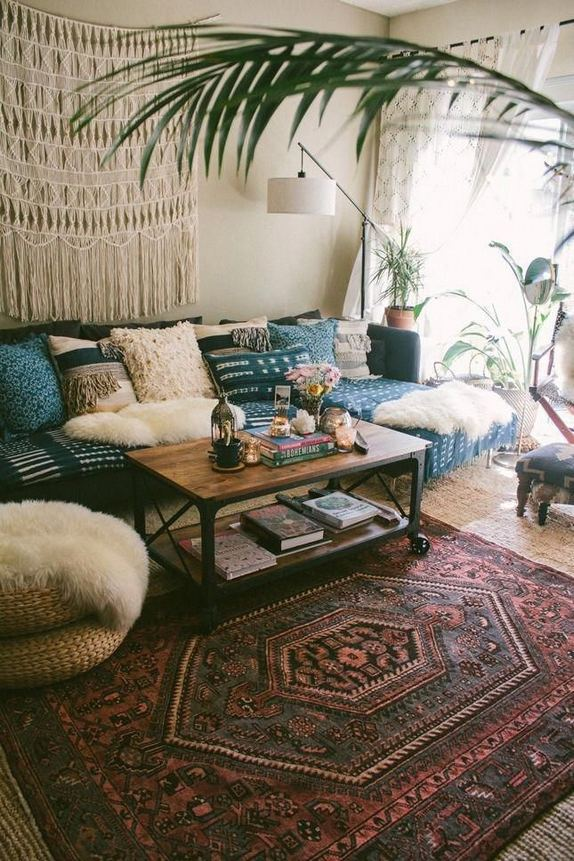 14 Cozy Bohemian Living Room Decoration Ideas 26