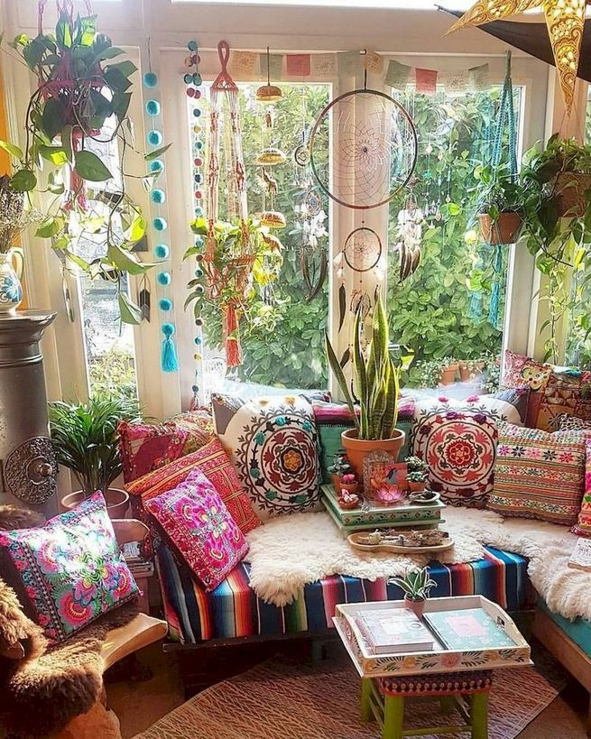 14 Cozy Bohemian Living Room Decoration Ideas 31