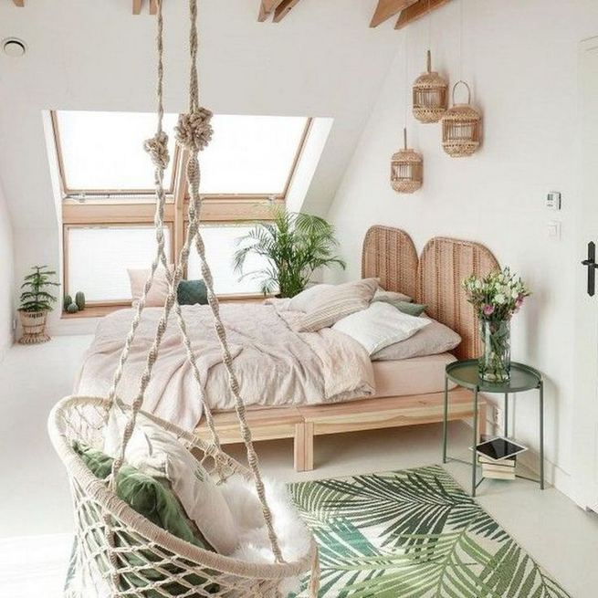 14 Elegant Boho Bedroom Decor Ideas For Small Apartment 05