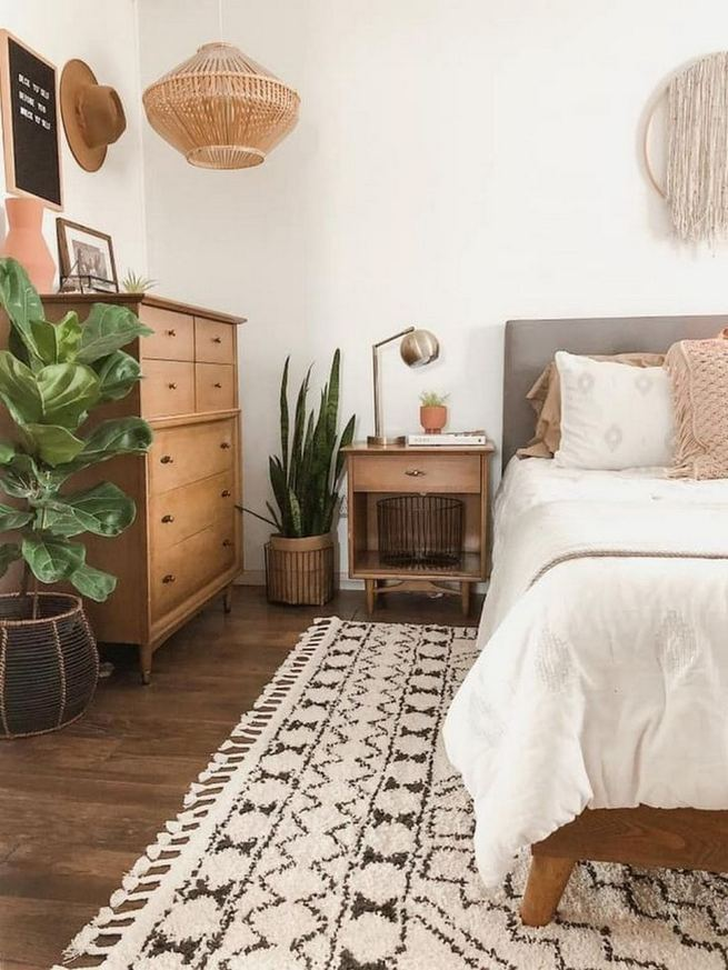 14 Elegant Boho Bedroom Decor Ideas For Small Apartment 06