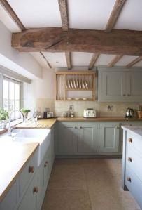 15 Incredible Farmhouse Gray Kitchen Cabinet Design Ideas 06