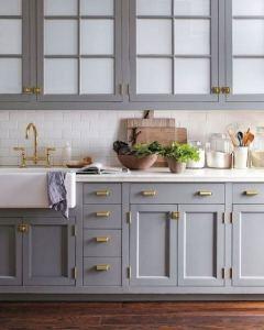 15 Incredible Farmhouse Gray Kitchen Cabinet Design Ideas 10