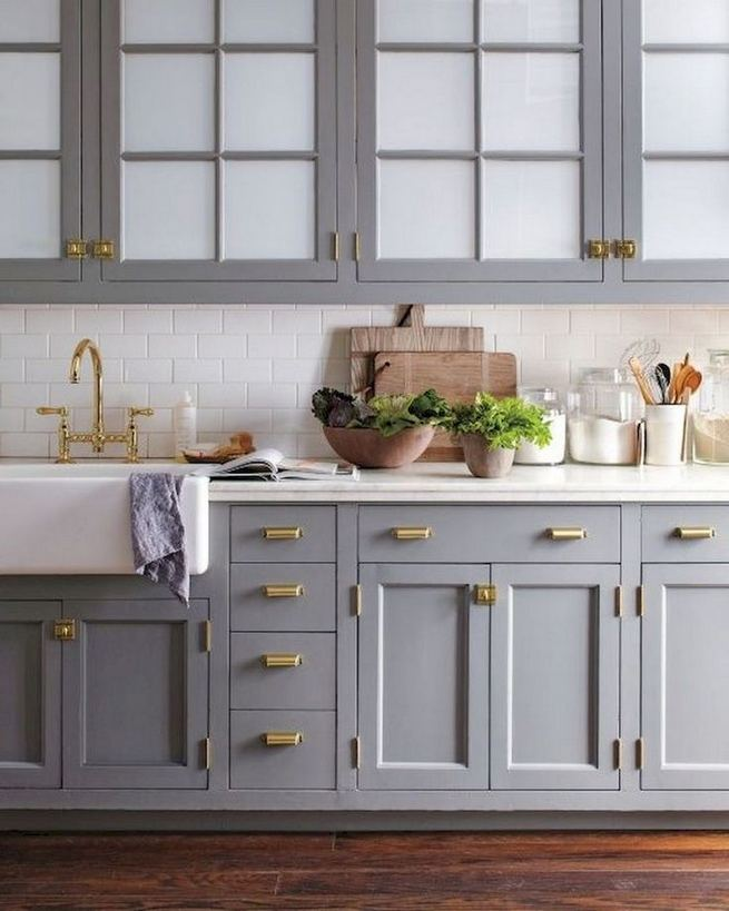 15 Incredible Farmhouse Gray Kitchen Cabinet Design Ideas 10