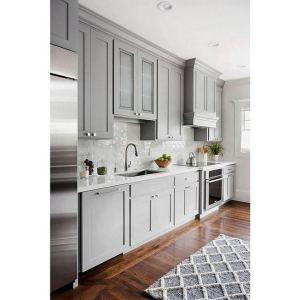 15 Incredible Farmhouse Gray Kitchen Cabinet Design Ideas 18