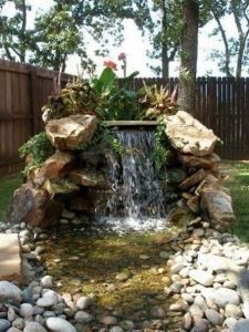 15 Relaxing Backyard Waterfalls Ideas For Your Outdoor 08