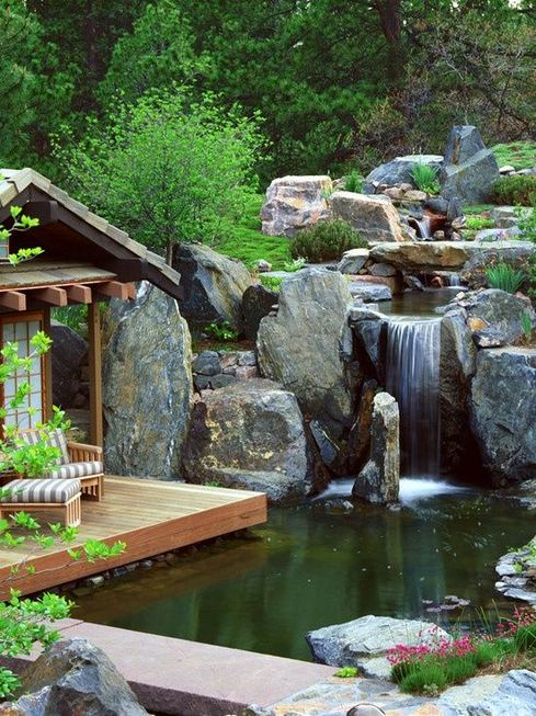 15 Relaxing Backyard Waterfalls Ideas For Your Outdoor 23