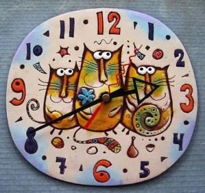 16 Cute Creative DIY Wall Clock Ideas For Kids Room 02