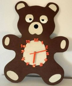 16 Cute Creative DIY Wall Clock Ideas For Kids Room 09