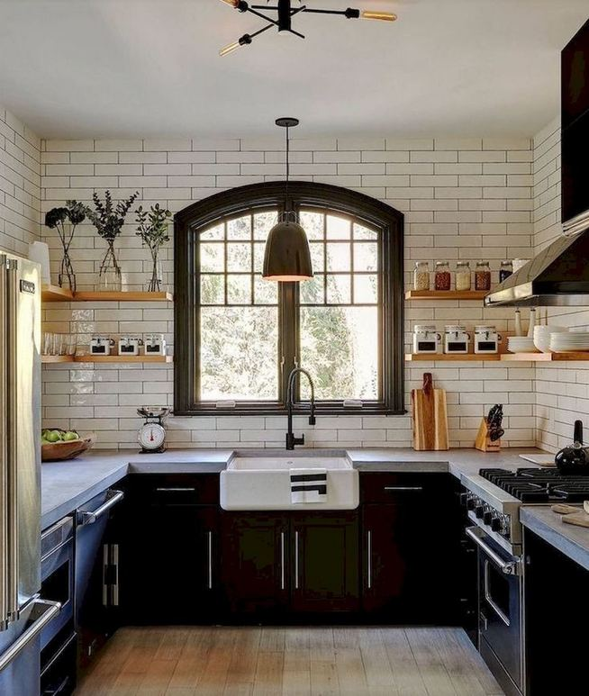 16 Modern Farmhouse Kitchen Cabinet Makeover Design Ideas 05