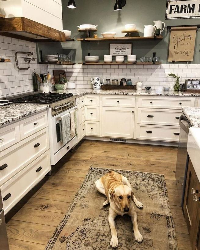 16 Modern Farmhouse Kitchen Cabinet Makeover Design Ideas 24
