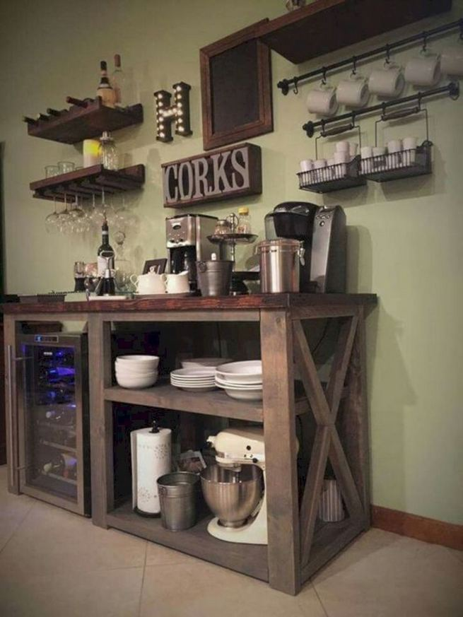 17 Easy DIY Mini Coffee Bar Ideas For Your Home 24