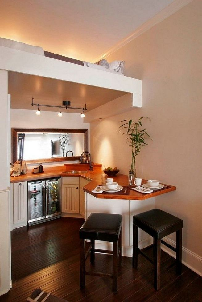 17 Elegant First Apartment Small Kitchen Bar Design Ideas 27