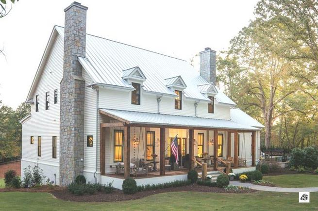 21 Amazing Rustic Farmhouse Exterior Designs Ideas 08