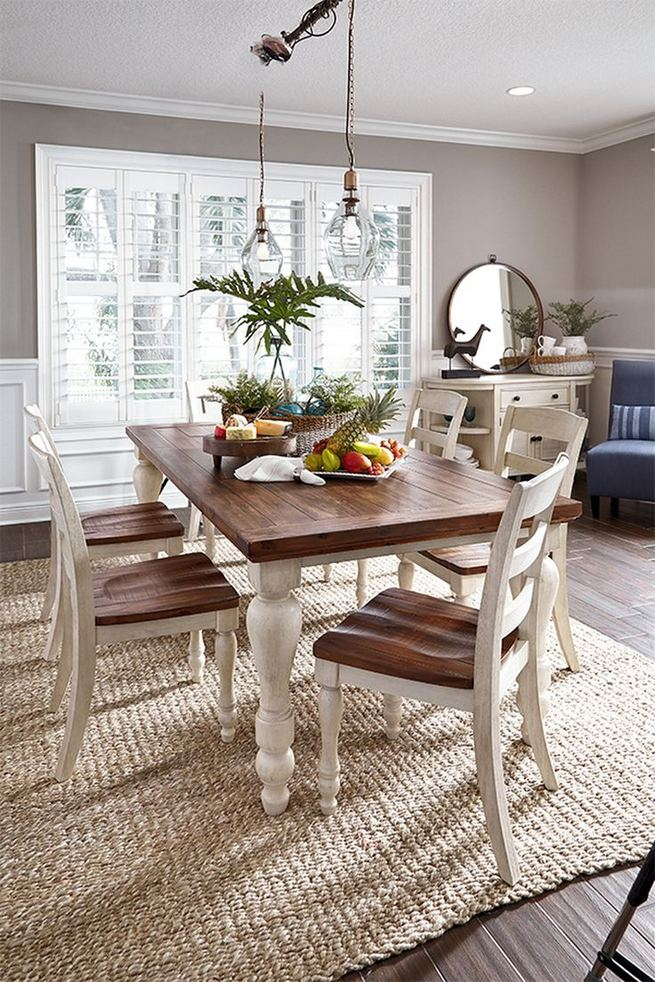 21 Vintage DIY Dining Table Design Ideas 07
