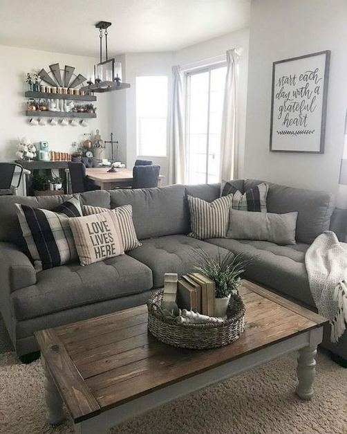 21 Warm And Cozy Farmhouse Style Living Room Decor Ideas 33