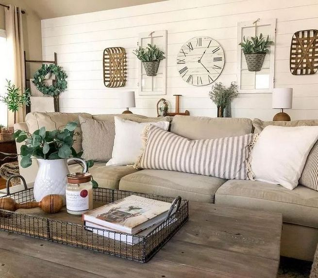 13 Cozy Farmhouse Living Room Decor Ideas 06