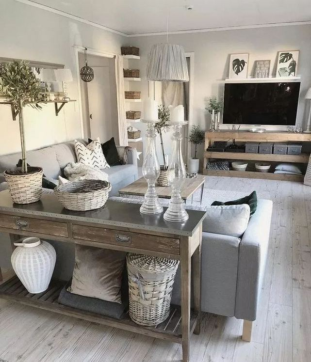 13 Cozy Farmhouse Living Room Decor Ideas 09