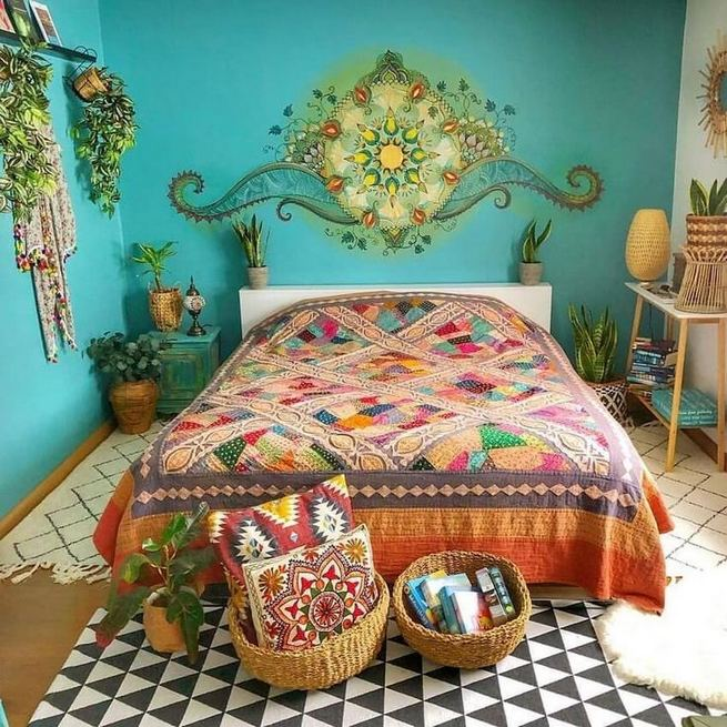 19 Creative DIY Bohemian Bedroom Decor Ideas 08