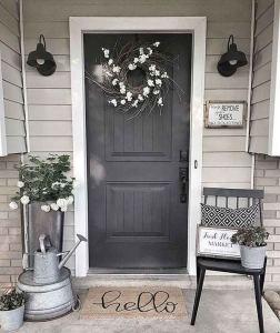 21 Stunning Farmhouse Front Porch Decor Ideas 19
