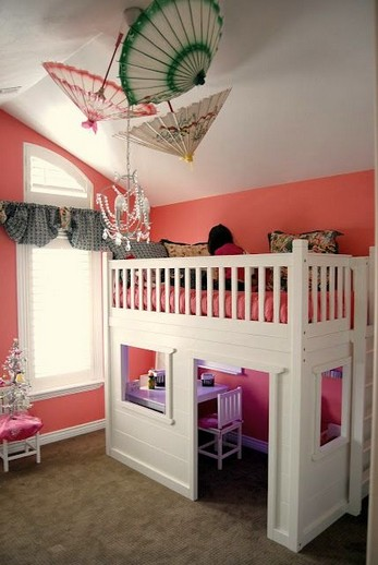16 Bunk Beds Design Ideas With Desk Areas Help To Make Compact Bedrooms Bigger 07