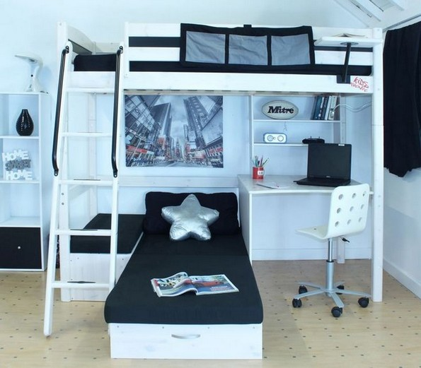 16 Bunk Beds Design Ideas With Desk Areas Help To Make Compact Bedrooms Bigger 10