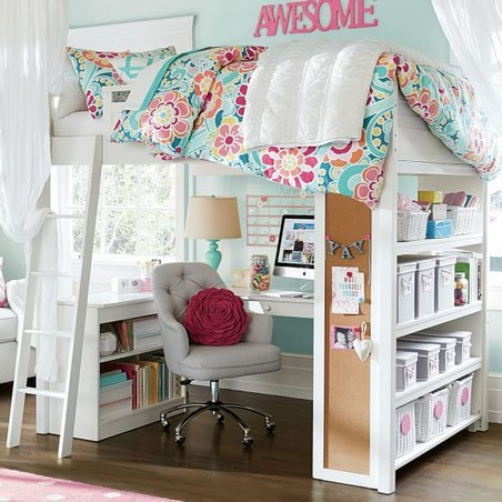 16 Bunk Beds Design Ideas With Desk Areas Help To Make Compact Bedrooms Bigger 21