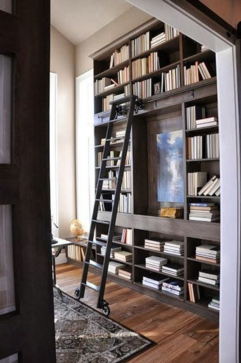 16 Fantastic Floor To Ceiling Bookshelves With Ladder 10