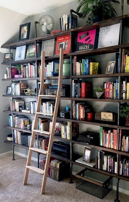16 Fantastic Floor To Ceiling Bookshelves With Ladder 11