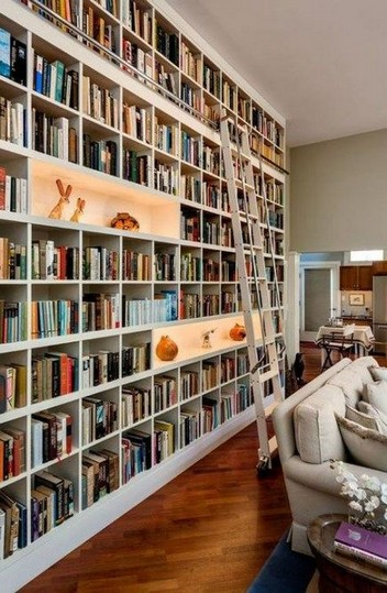 16 Fantastic Floor To Ceiling Bookshelves With Ladder 13