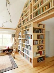 16 Fantastic Floor To Ceiling Bookshelves With Ladder 15