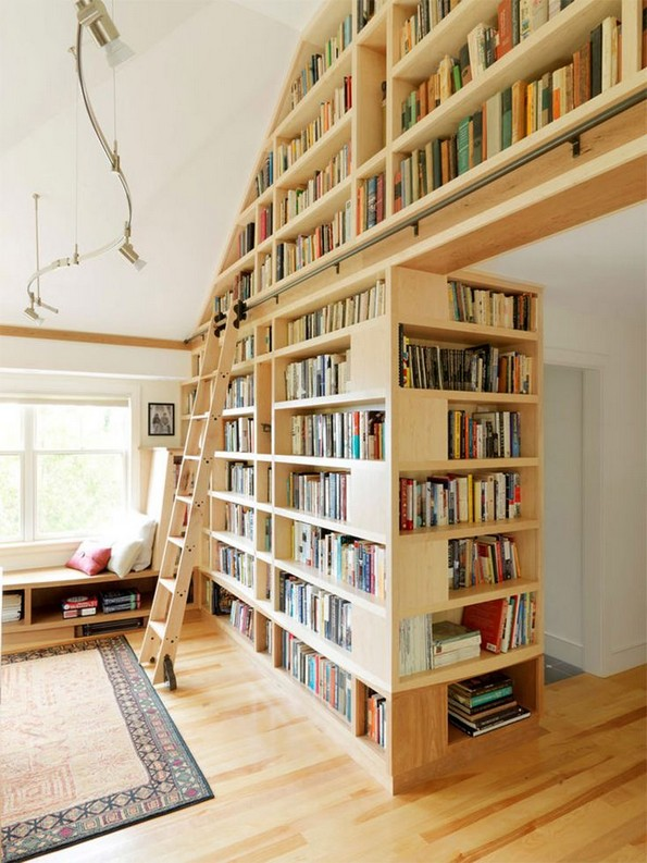 16 Fantastic Floor To Ceiling Bookshelves With Ladder 15