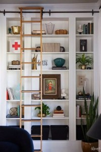 16 Fantastic Floor To Ceiling Bookshelves With Ladder 18