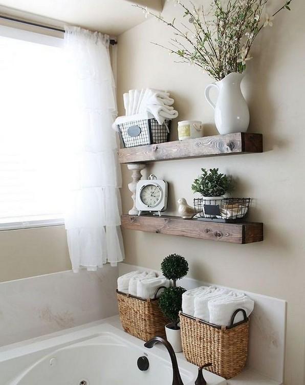 16 Kinds Of Farmhouse Bathroom Accessories Ideas 11