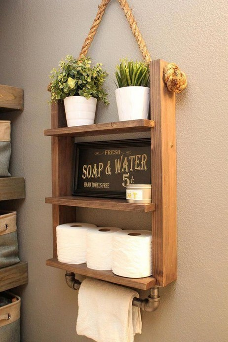 16 Models Bathroom Shelf With Industrial Farmhouse Towel Bar – Tips For Buying It 04