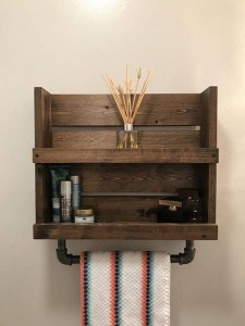 16 Models Bathroom Shelf With Industrial Farmhouse Towel Bar – Tips For Buying It 23