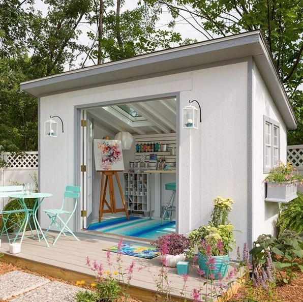 16 Modern Shed Design Looks Luxury To Complement Your Home 05