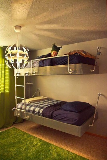 17 Most Popular Floating Bunk Beds Design 04
