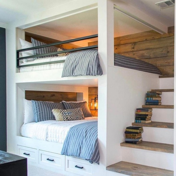 18 BBunk Bed Design Ideas With The Most Enthusiastic Desk In Interest 03
