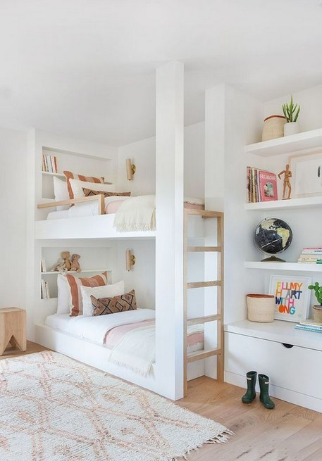 18 BBunk Bed Design Ideas With The Most Enthusiastic Desk In Interest 15