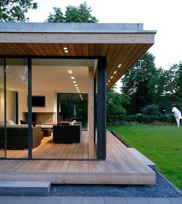 18 Examples Of Amazing Contemporary Flat Roof Design Of A House 09