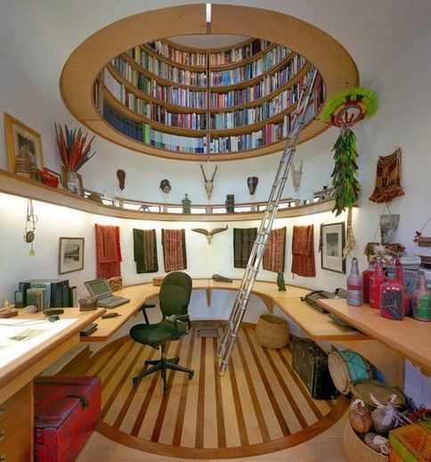 18 Fantastic Floor To Ceiling Bookshelves With Ladder 30