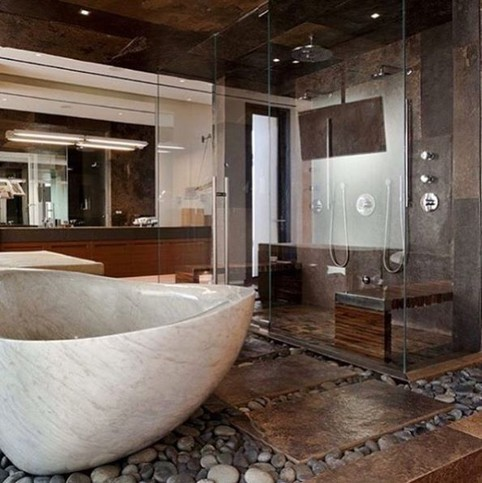 19 Pleasurable Master Bathroom Ideas 14
