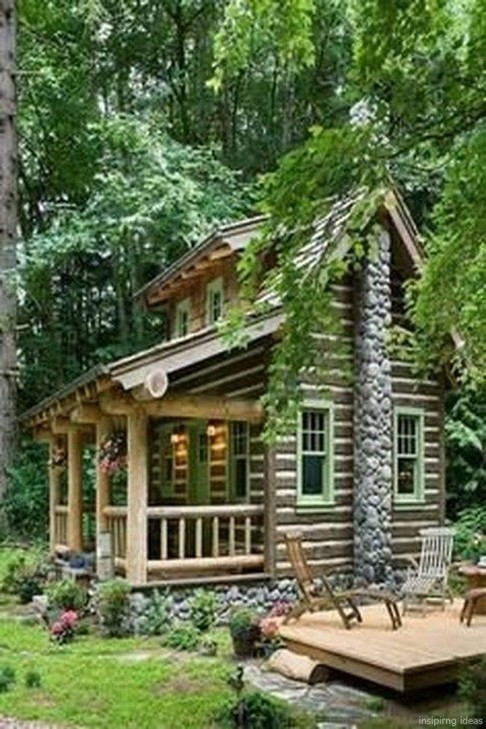 17 Beautiful Mountain Cabin Plans Hillside 03