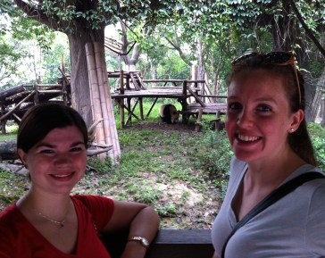 The most important part of this snap: Amber and me, together in China. The panda in the background: a bonus.