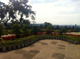 Temple gardens.