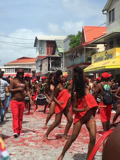 I'm thinking red's a theme color for New Years in Suriname.