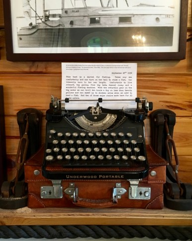 A portable typewriter, like those Hemingway might have taken on his adventures.
