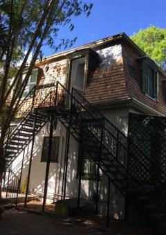Stairs up to Hemingway's writing hideaway.